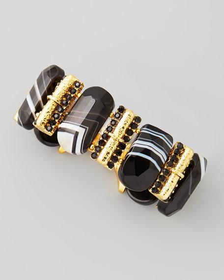 Rectangle Black Agate Bracelet