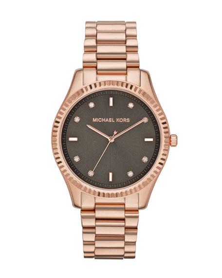 Mid-Size Rose Golden Stainless Steel Blake Three-Hand Glitz Watch