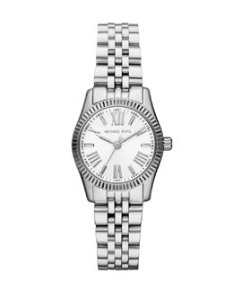 Michael Kors  Petite Silver Color Stainless Steel Lexington Three-Hand Watch