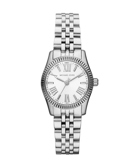 Petite Silver Color Stainless Steel Lexington Three-Hand Watch