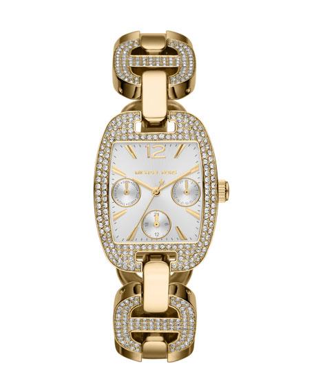 Golden Stainless Steel Emma Chronograph Glitz Watch