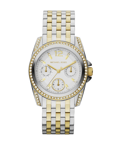 Michael Kors Mid-Size Two-Tone Stainless Steel Preseley Glitz