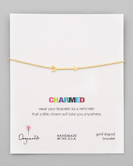 Dogeared Charmed Gold-Dipped Big Arrow Bracelet