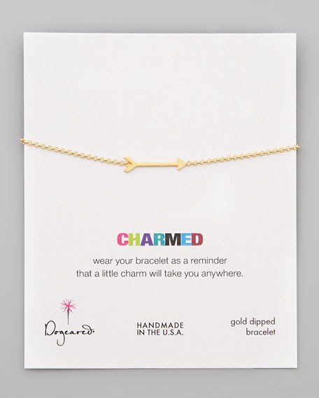 Charmed Gold-Dipped Big Arrow Bracelet