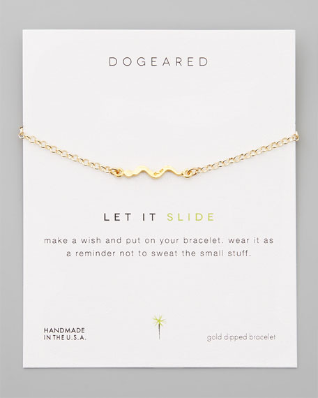 Let It Slide Gold-Dipped Snake Pendant Bracelet