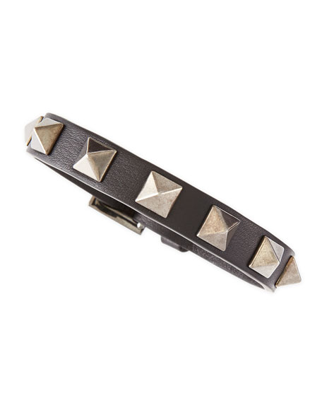 Small Rockstud Bracelet, Black