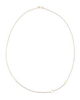 Maya Brenner Designs Mini 2-Letter Personalized Necklace, 14k Yellow Gold