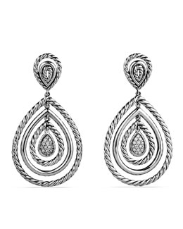David Yurman Cable Classics Teardrop Earrings with Diamonds