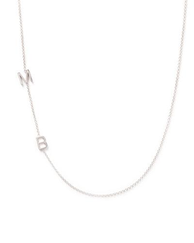 Mini 2-Letter Personalized Necklace  14k White Gold