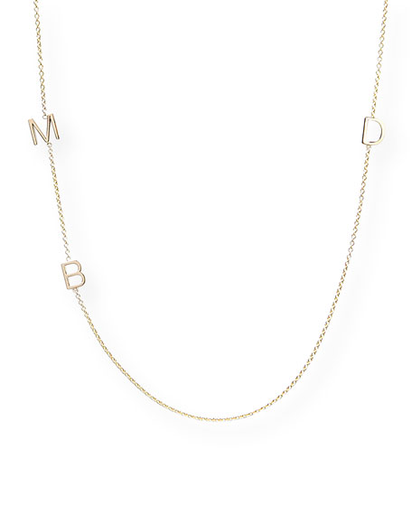 Maya Brenner Designs Mini 3-Letter Personalized Necklace, 14k