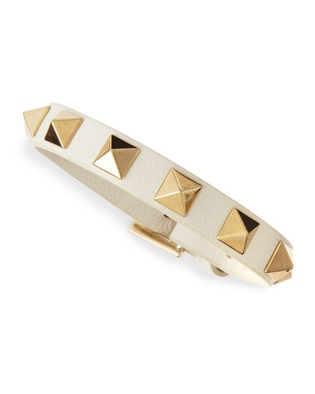 Small Rockstud Bracelet, Ivory