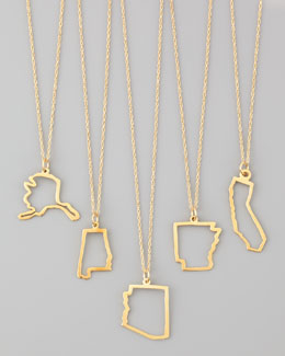 Maya Brenner Designs 14k Gold Necklace, Alabama-Missouri & Long Island
