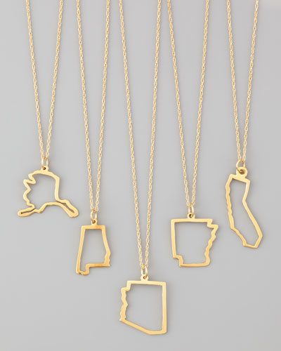 Maya Brenner Designs Maya Brenner Designs 14K Gold Necklace, States A-M