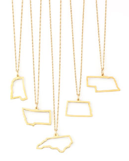 Maya Brenner Designs 14k Gold Necklace, Mississippi-Wyoming & DC