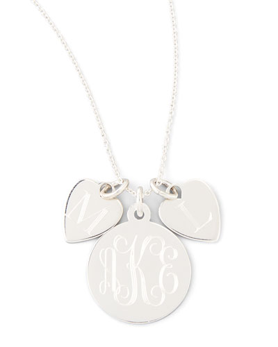 Sarah Chloe Sonya Layered Letter & Monogram Necklace, Silver