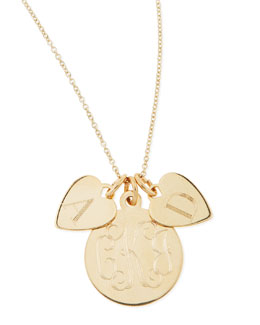 Sarah Chloe Sonya Layered Letter & Monogram Necklace, Gold