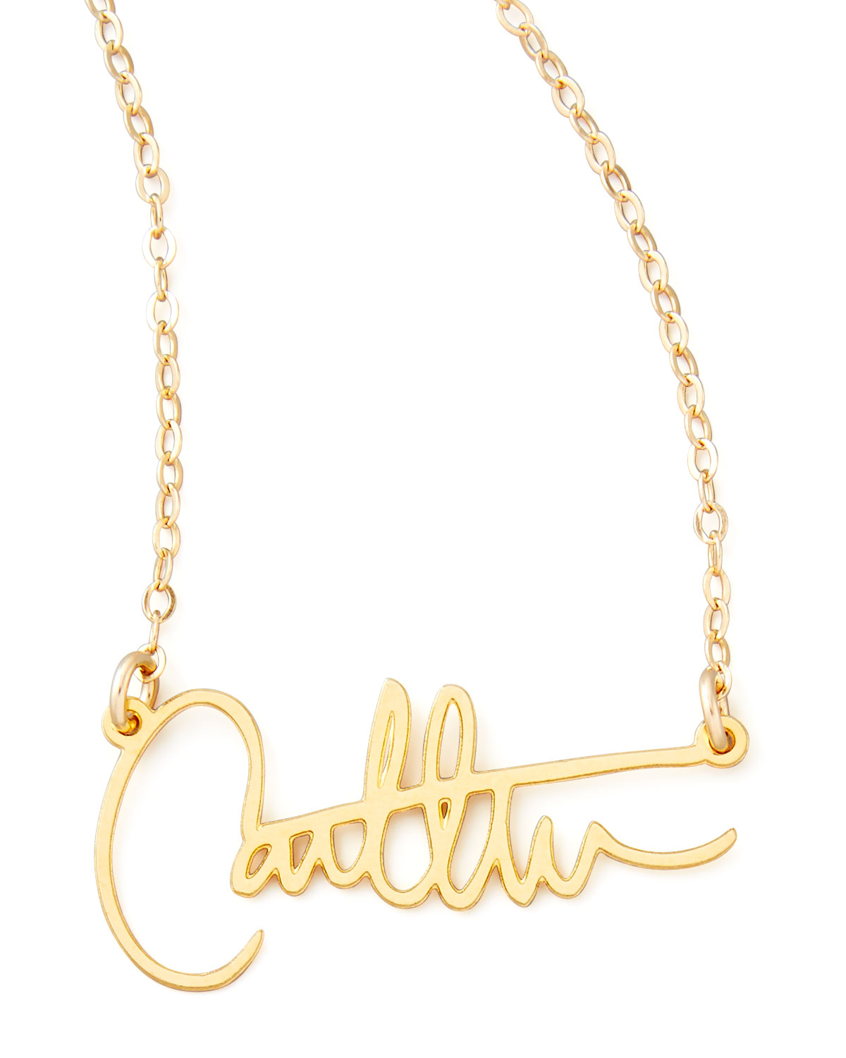 gold olizz initial pendant personalized necklace