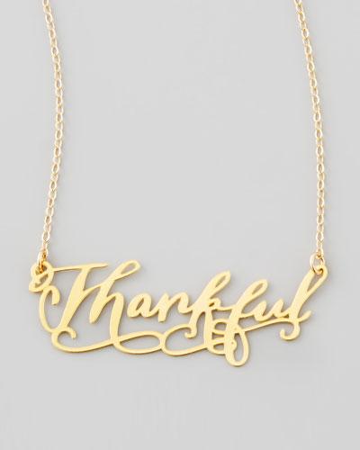 Thankful Pendant Necklace