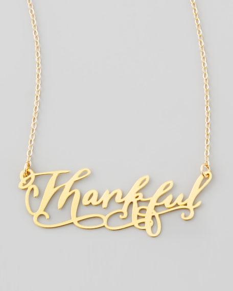 BrevityThankful Pendant Necklace