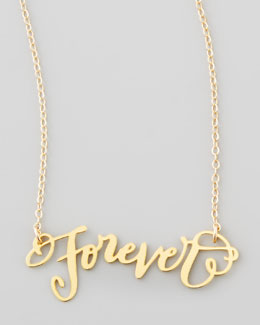 Brevity Forever Pendant Necklace