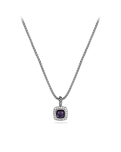 David Yurman Petite Albion Pendant with Black Orchid