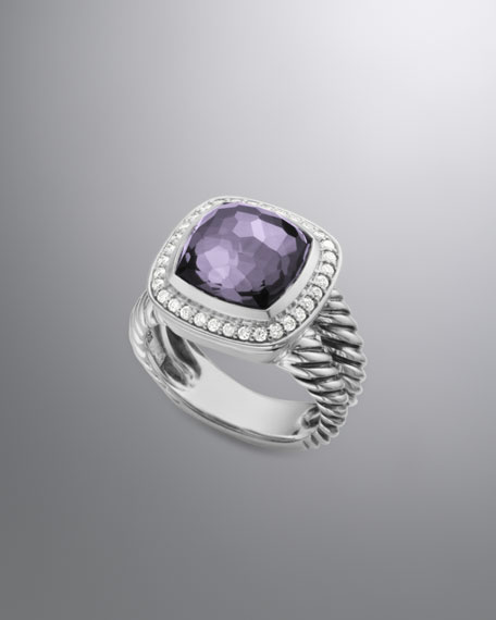 Albion Ring with Black Orchid