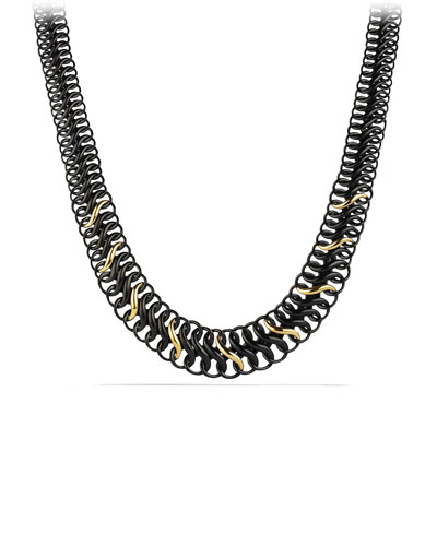David Yurman Black and Gold Chain Necklace