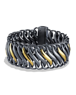David Yurman Black & Gold Chain Bracelet