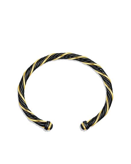 5MM BLACK AND GOLD BRACELET-
