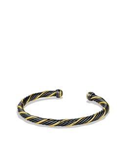 David Yurman Black & Gold Cable Bracelet