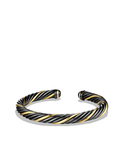 David Yurman Black & Gold Cable Bracelet