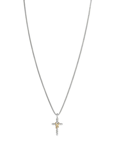 David Yurman X Cross with Gold on Chain