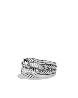 David Yurman Labyrinth Ring with Diamonds