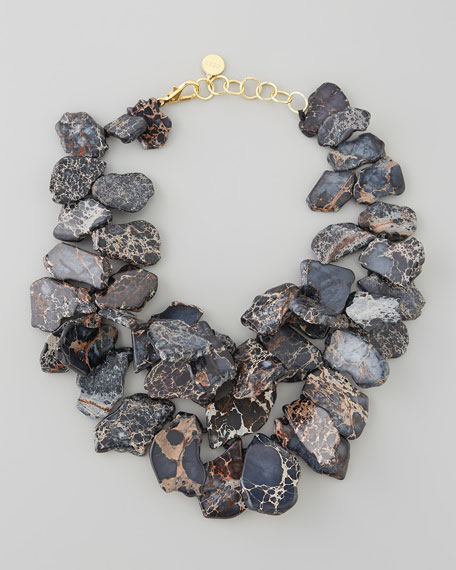 Chunky Jasper Necklace, Black