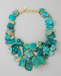 Nest Clustered Turquoise Jasper Necklace