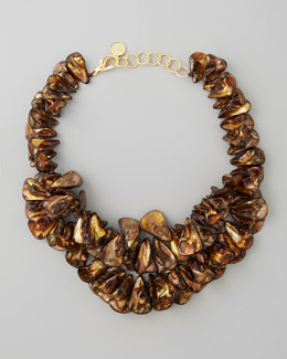 Nest Brown Mother-of-Pearl Cluster Necklace