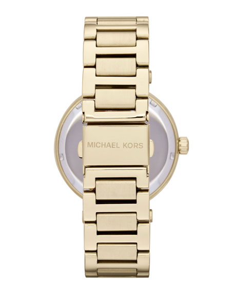 Mid-Size Golden Skylar Two-Hand Glitz Watch