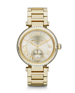 Michael Kors  Mid-Size Golden Skylar Two-Hand Glitz Watch