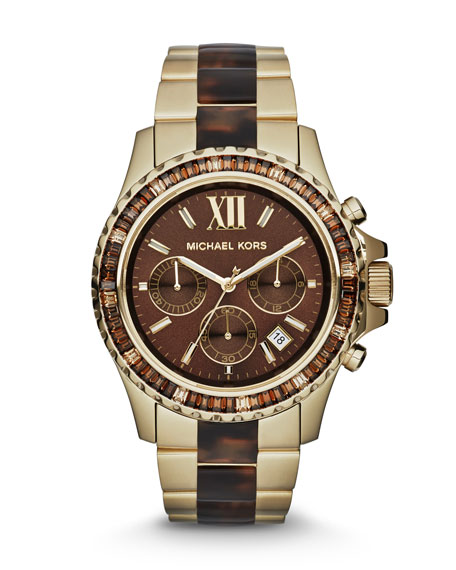 Mid-Size Two-Tone Stainless Steel Everest Chronograph Glitz Watch