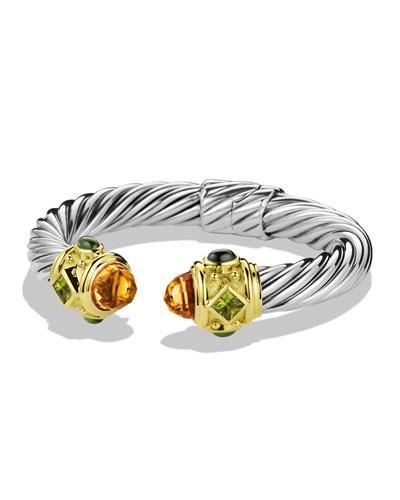 David Yurman Renaissance Bracelet with Citrine, Peridot, and Gold