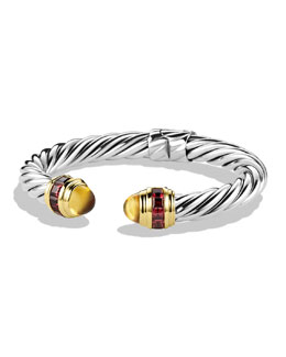 David Yurman Renaissance Bracelet with Citrine, Rhodolite Garnet, and Gold