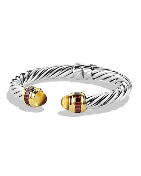 David Yurman Renaissance Bracelet with Citrine, Rhodolite Garnet,