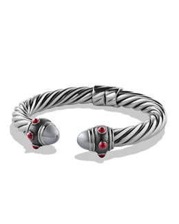 David Yurman Renaissance Bracelet with Hematine and Ruby