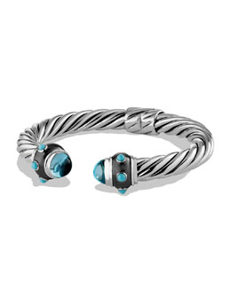 David Yurman Renaissance Bracelet with Blue Topaz and Turquoise