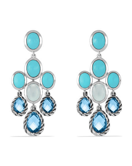 David yurman chandelier earrings with blue topaz turquoise and chandelier earrings with blue topaz turquoise and milky quartz mozeypictures Gallery