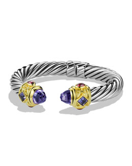 David Yurman Renaissance Bracelet with Amethyst, Iolite, and Gold