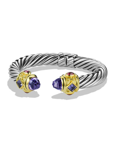 David Yurman Renaissance Bracelet with Amethyst, Iolite, and