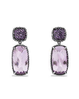 David Yurman Chatelaine Drop Earrings with Lavender Amethyst and Purple Sapphires