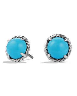 David Yurman Chatelaine Earrings with Simulated Turquoise