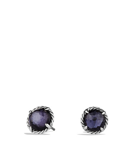 Chatelaine Earrings with Black Orchid